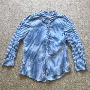 Hollister striped collared button down shirt